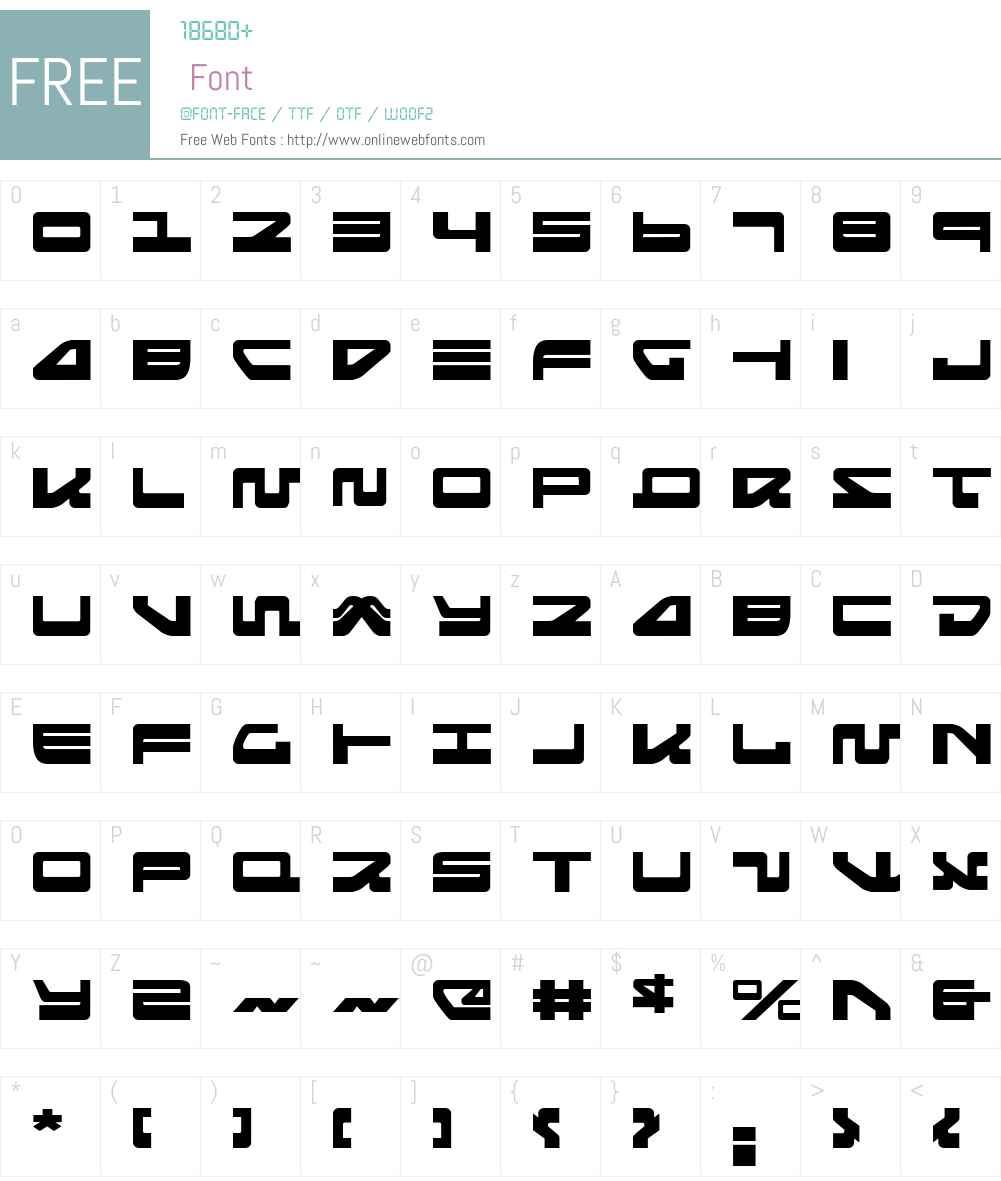 Searider Falcon Expanded Font Screenshots
