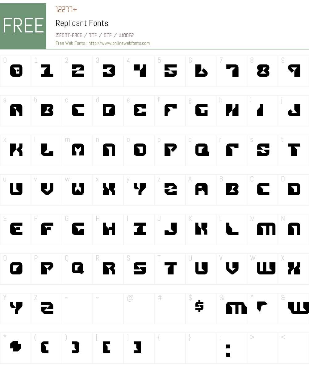Replicant Font Screenshots