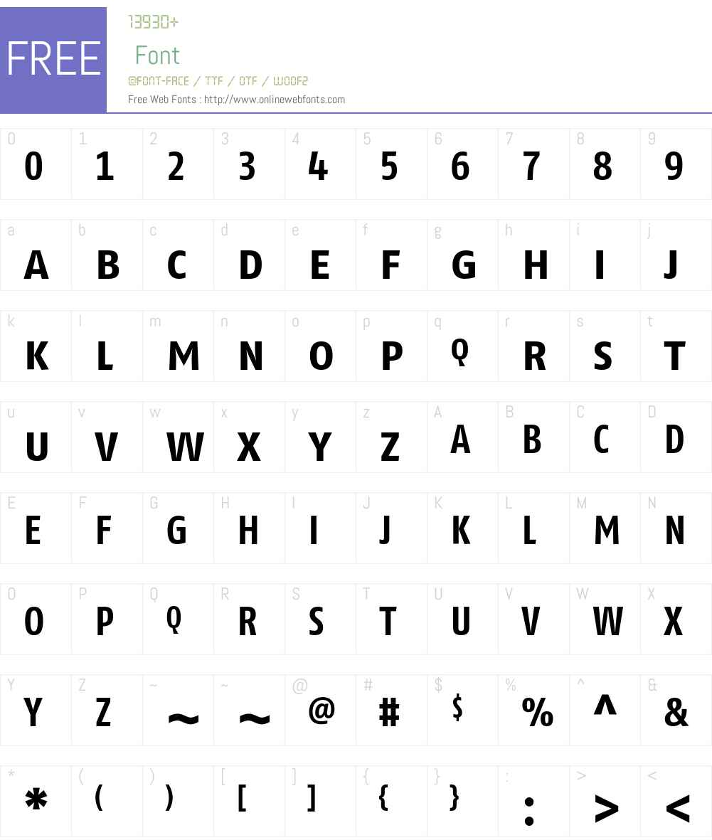 FagoCoTf Font Screenshots