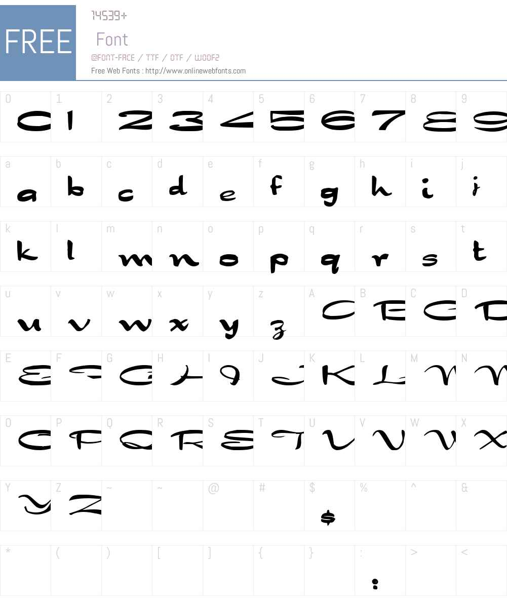 BigStretch Font Screenshots