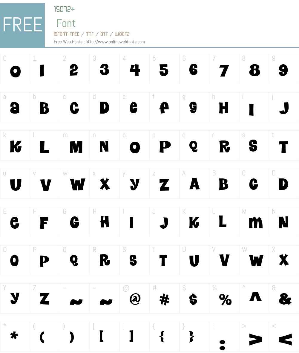 NerwynNFW00-Regular Font Screenshots