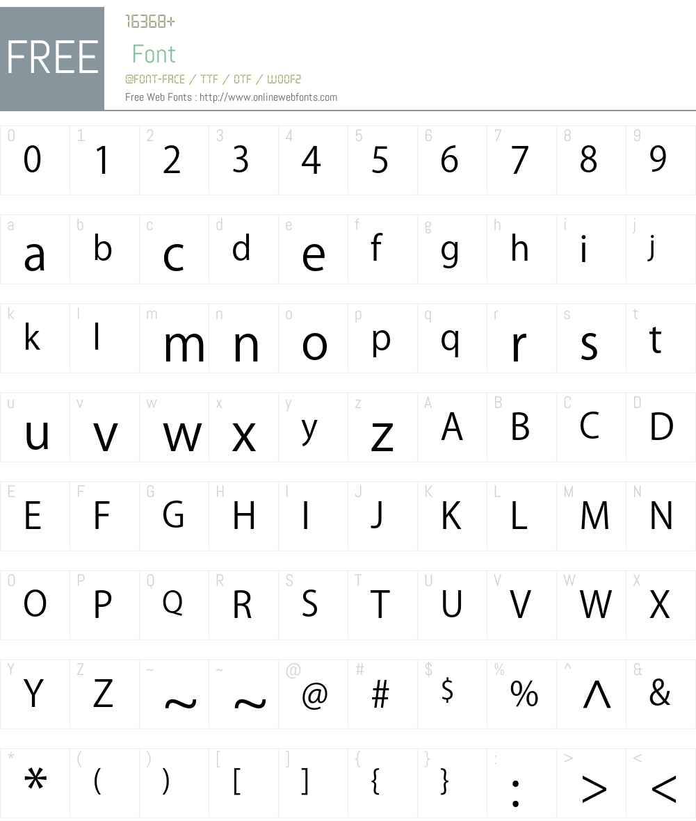 Kozuka Gothic Pro R Font Screenshots