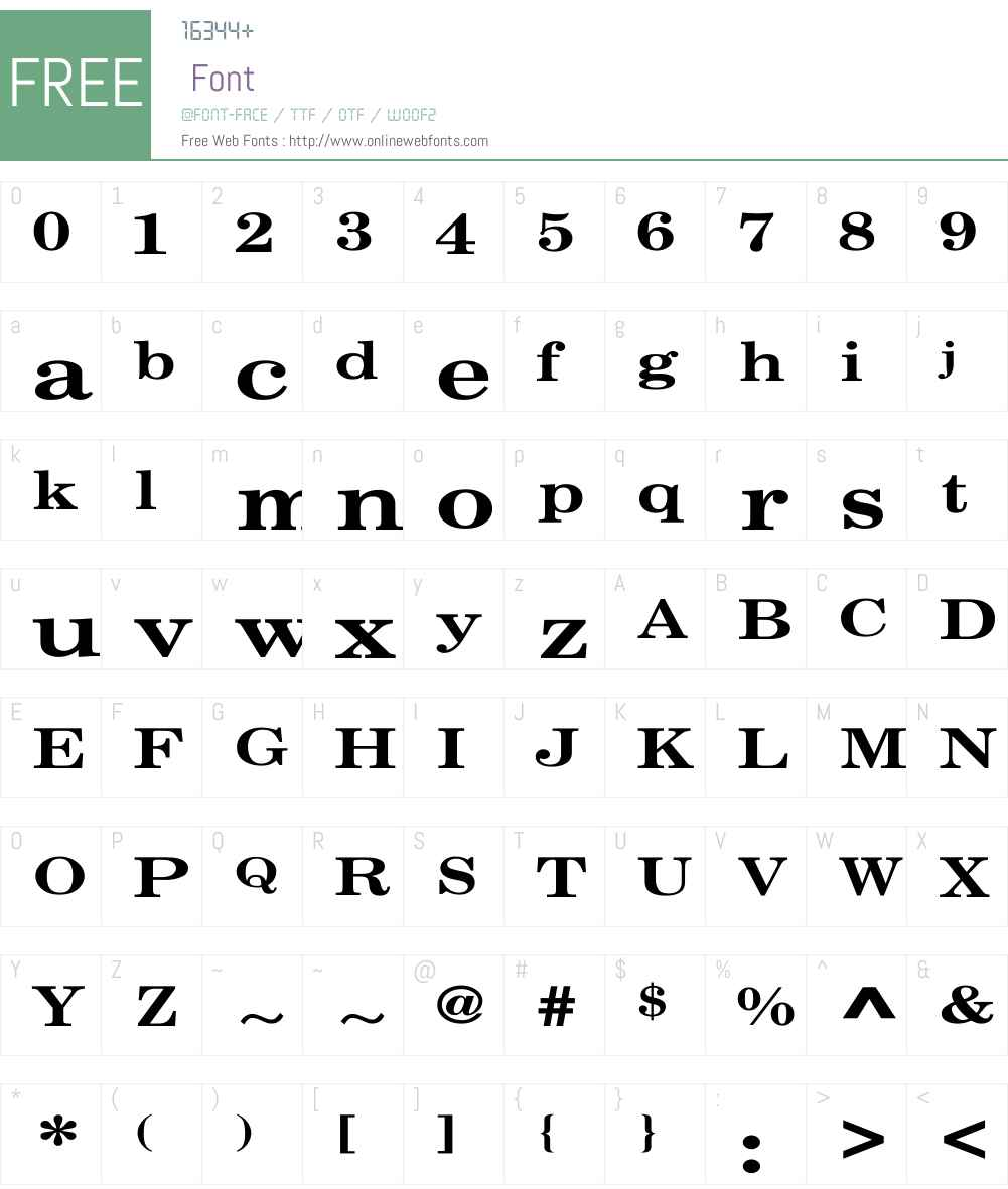 Century Schoolbook Wd Font Screenshots