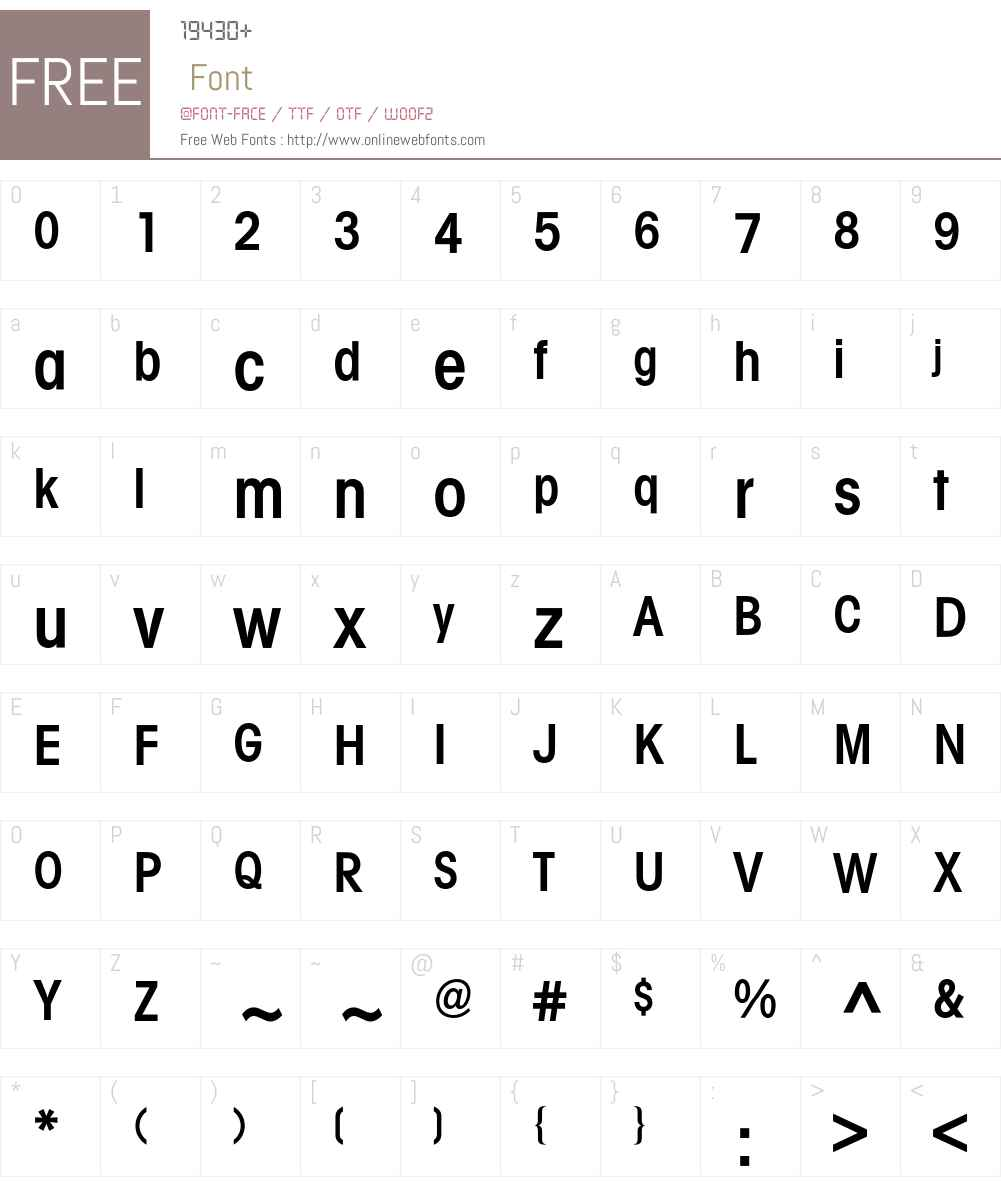Avant Garde Condensed BQ Font Screenshots