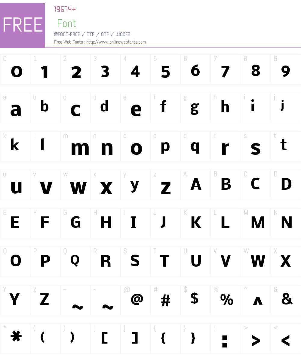Nobile Font Screenshots