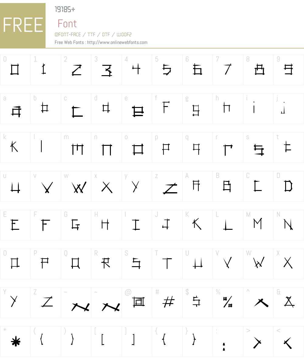 AshberyW00-Bold Font Screenshots