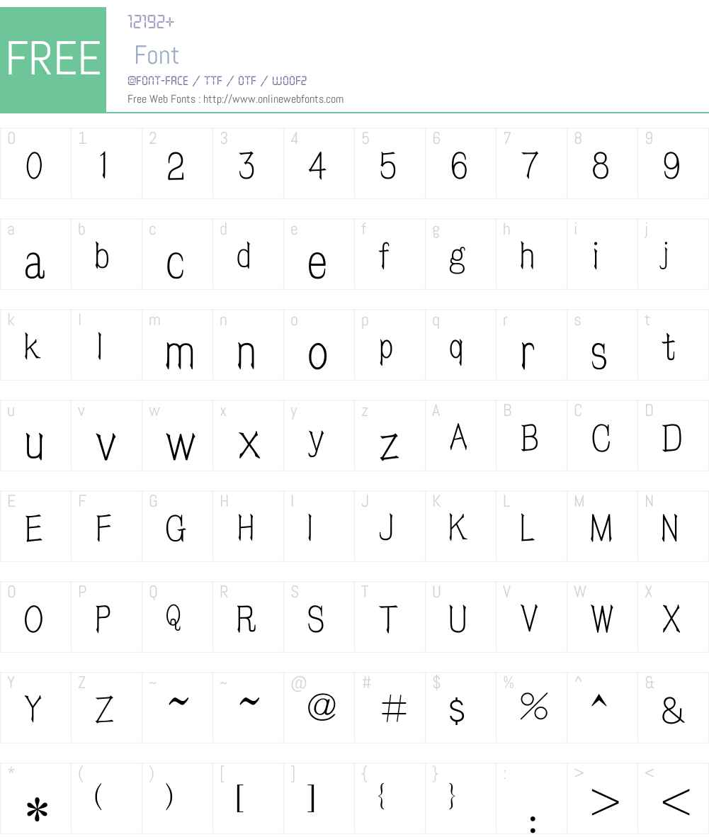 HY Fang Song Simplified Chinese Font Screenshots