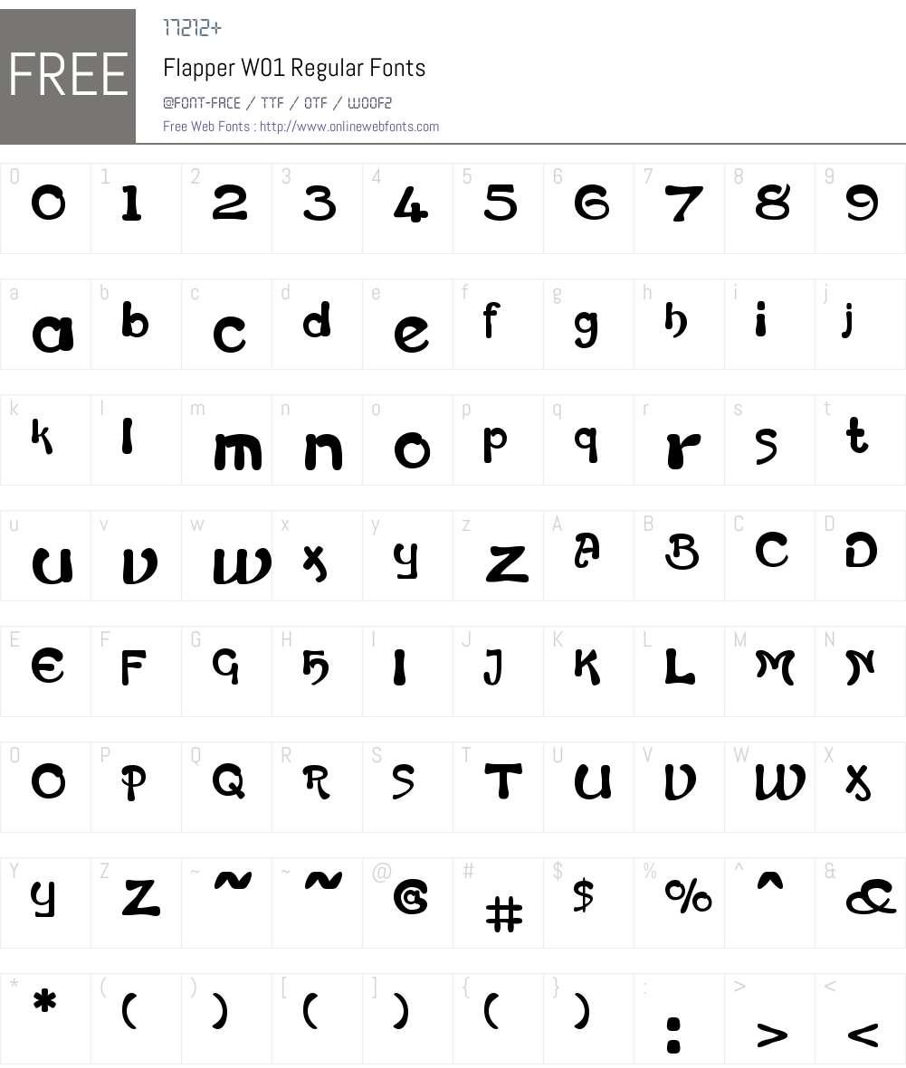 FlapperW01-Regular Font Screenshots