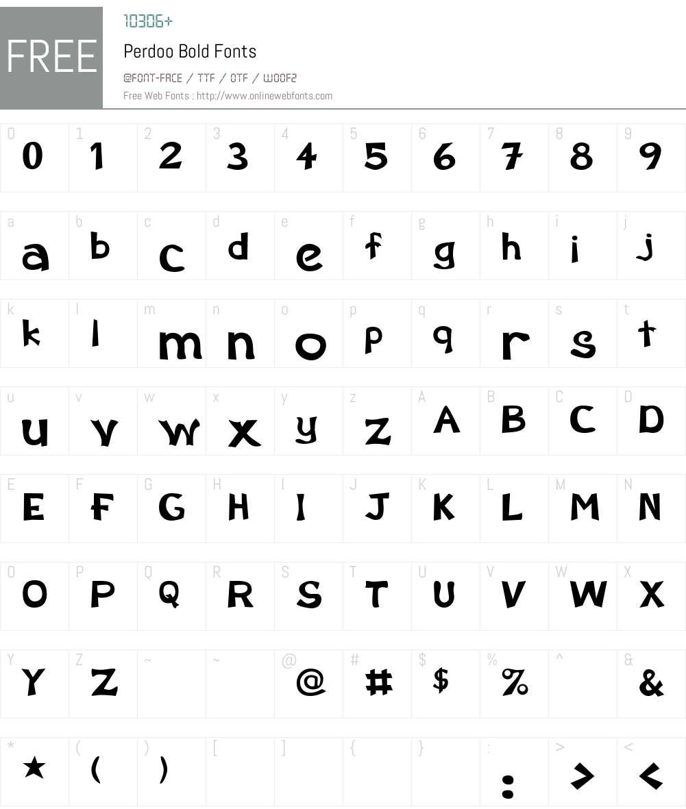 Perdoo Font Screenshots