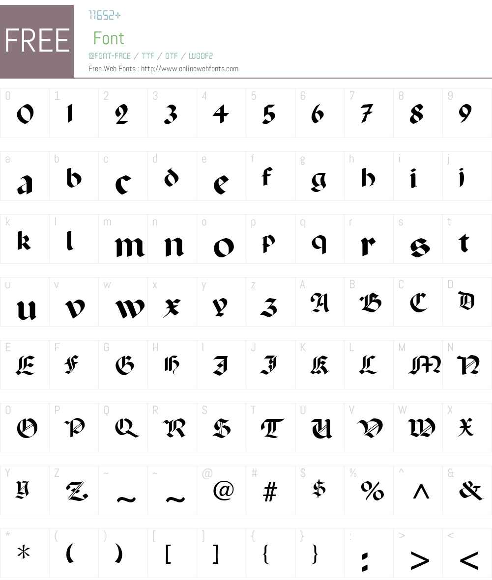 Percival Font Screenshots
