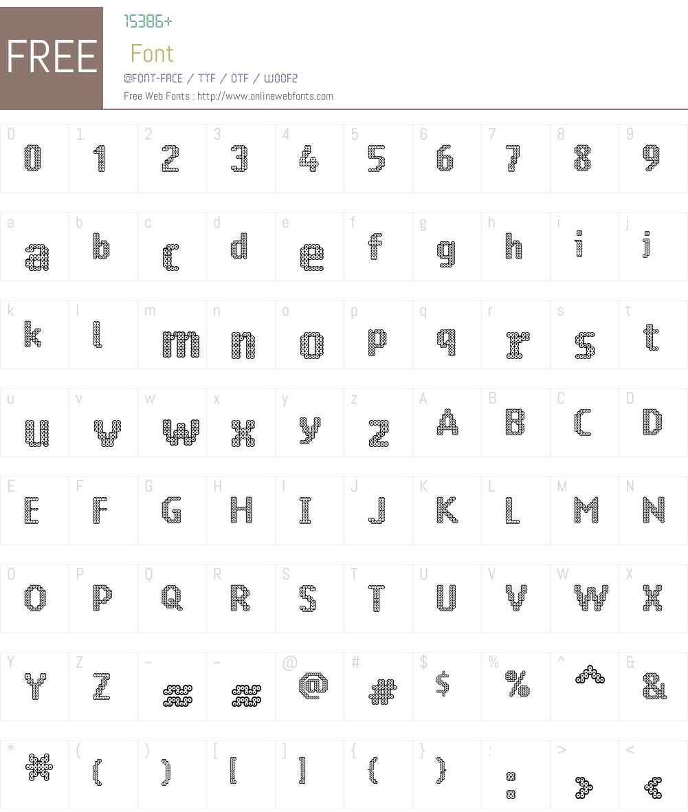Ring Matrix Two Font Screenshots