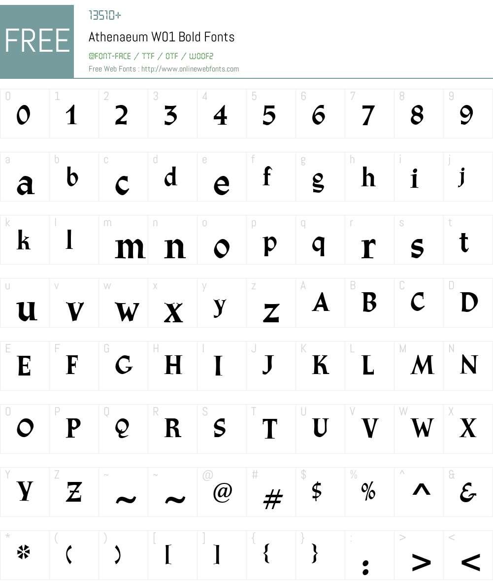 AthenaeumW01-Bold Font Screenshots