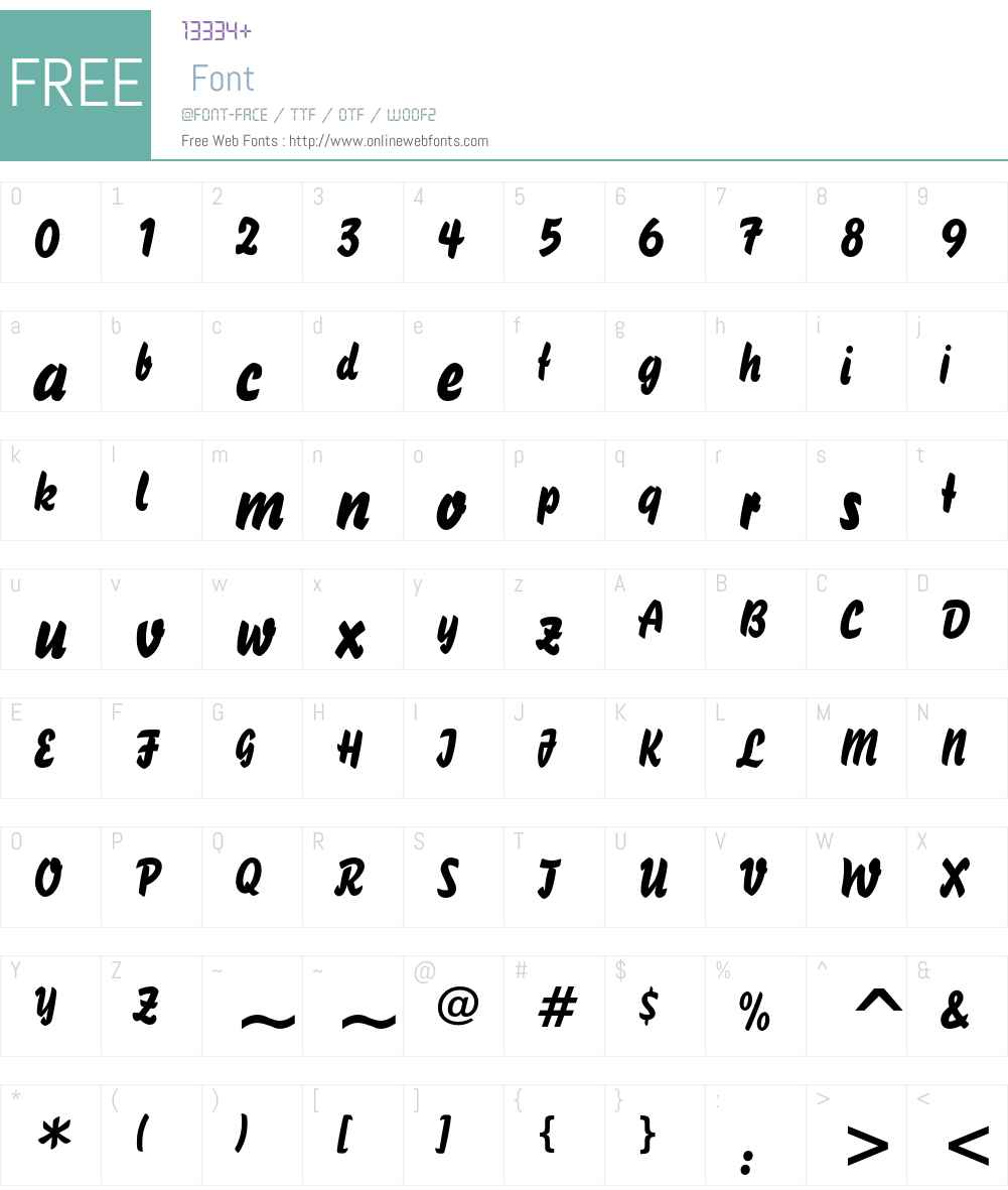 Brush 738 Font Screenshots