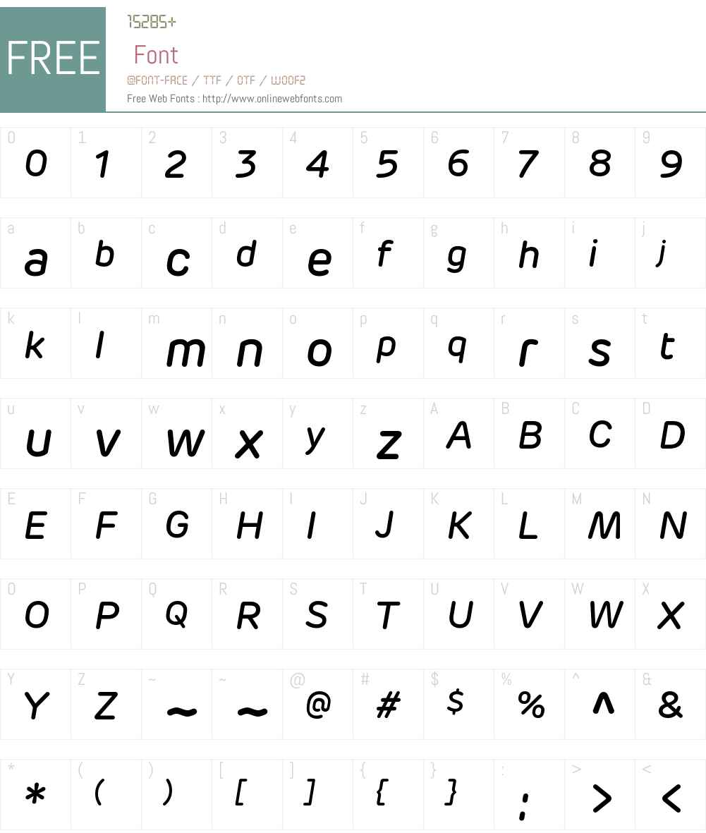 Rubrik Medium Italic Font Screenshots