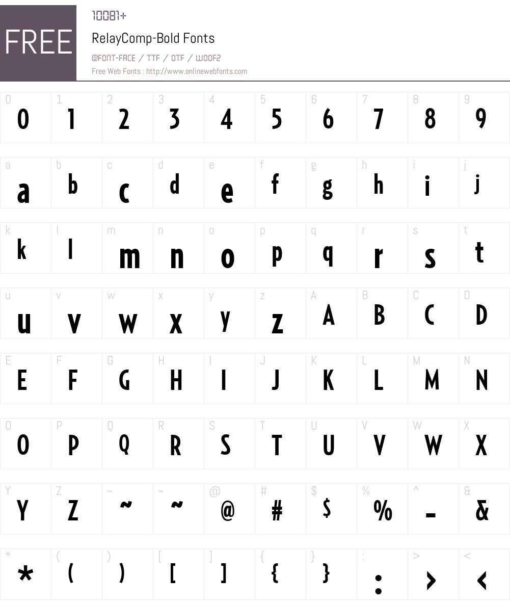 RelayComp-Bold Font Screenshots