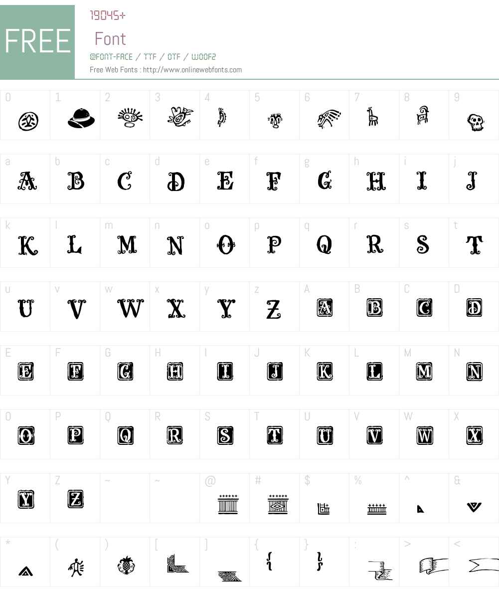 Olduvai Ornaments Font Screenshots
