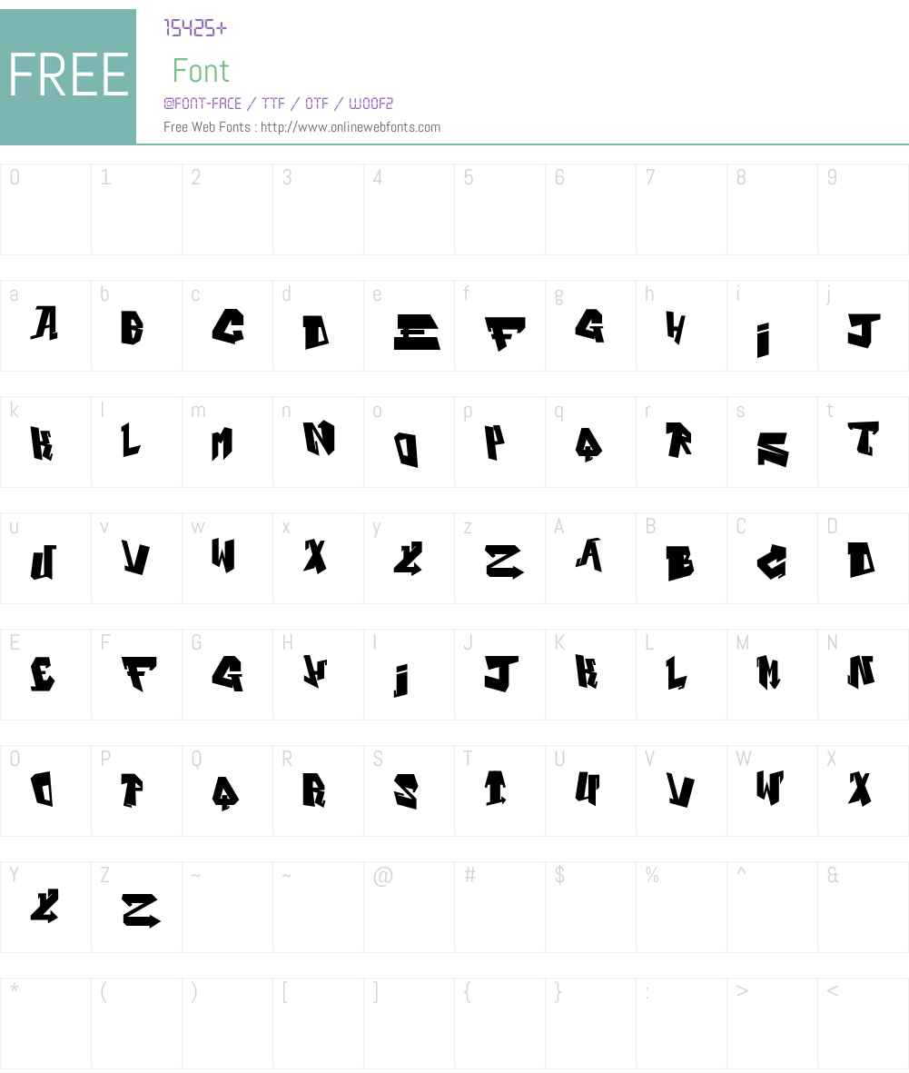 Alphabet Black Font Screenshots