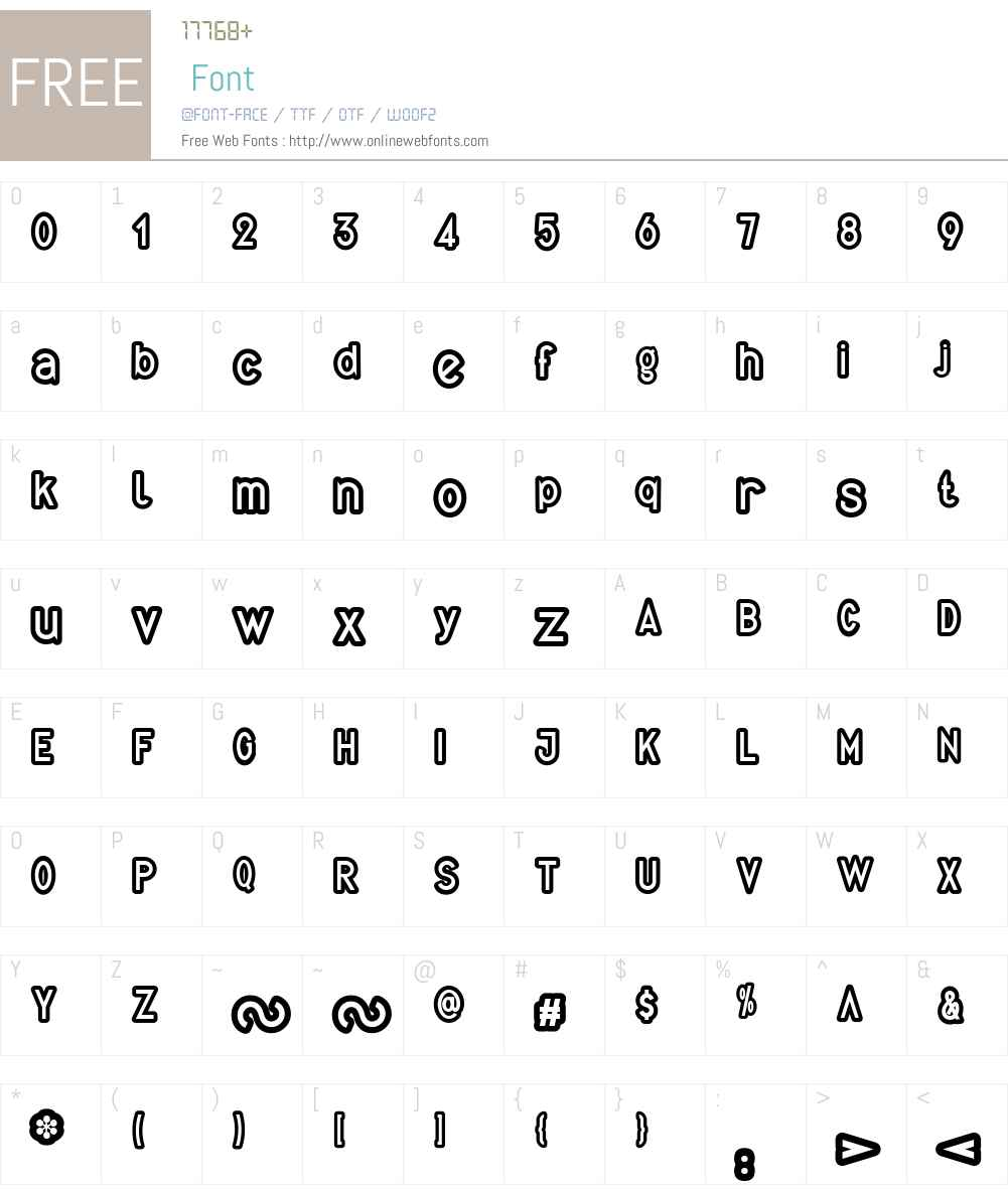Quirkus Out Font Screenshots
