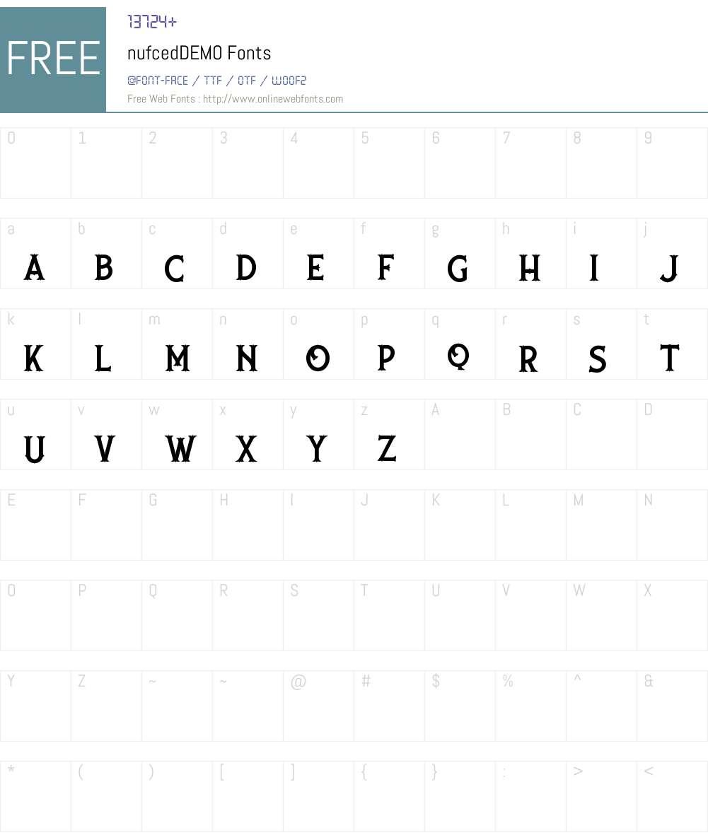 nufced DEMO Font Screenshots