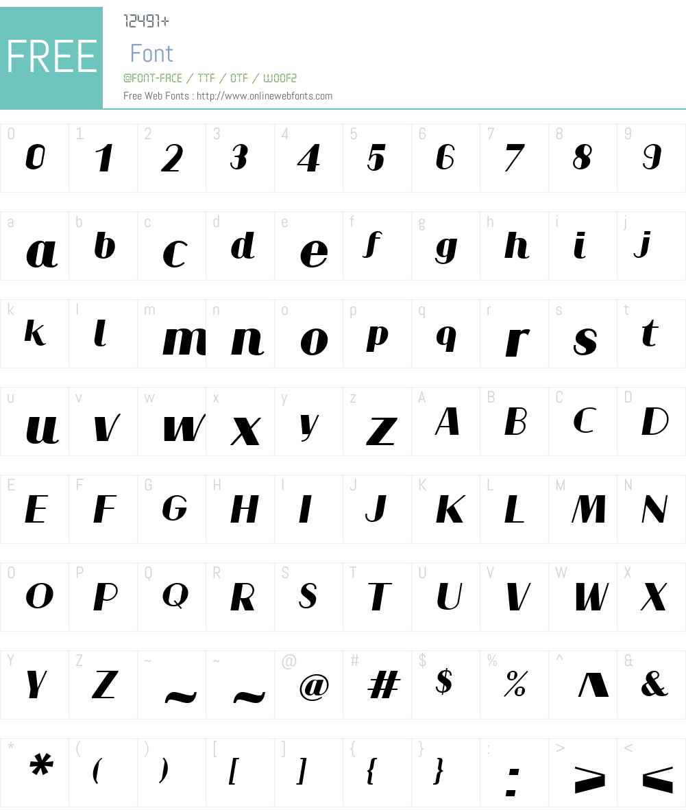 JogaW01-RegularItalic Font Screenshots