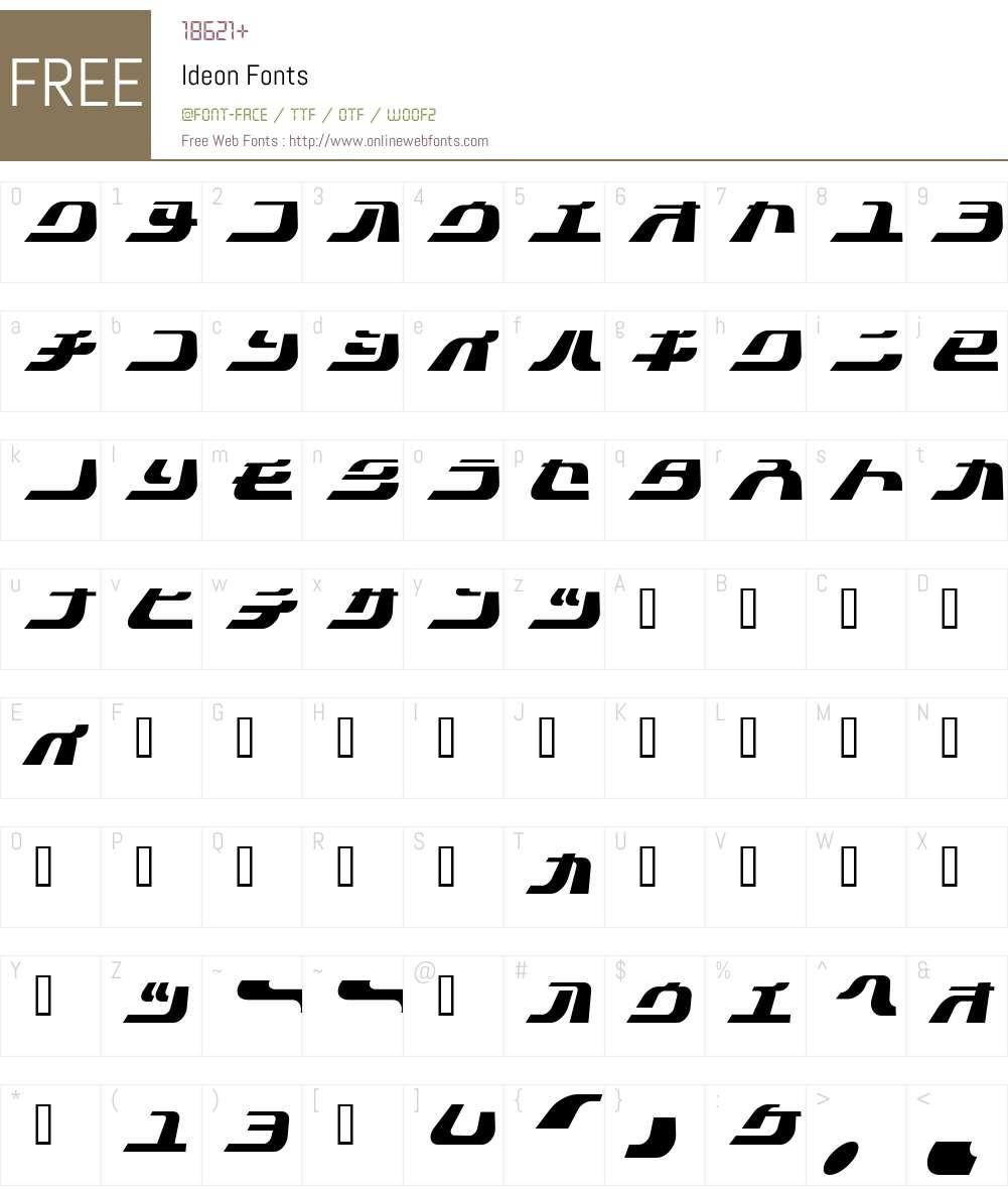 Ideon Font Screenshots