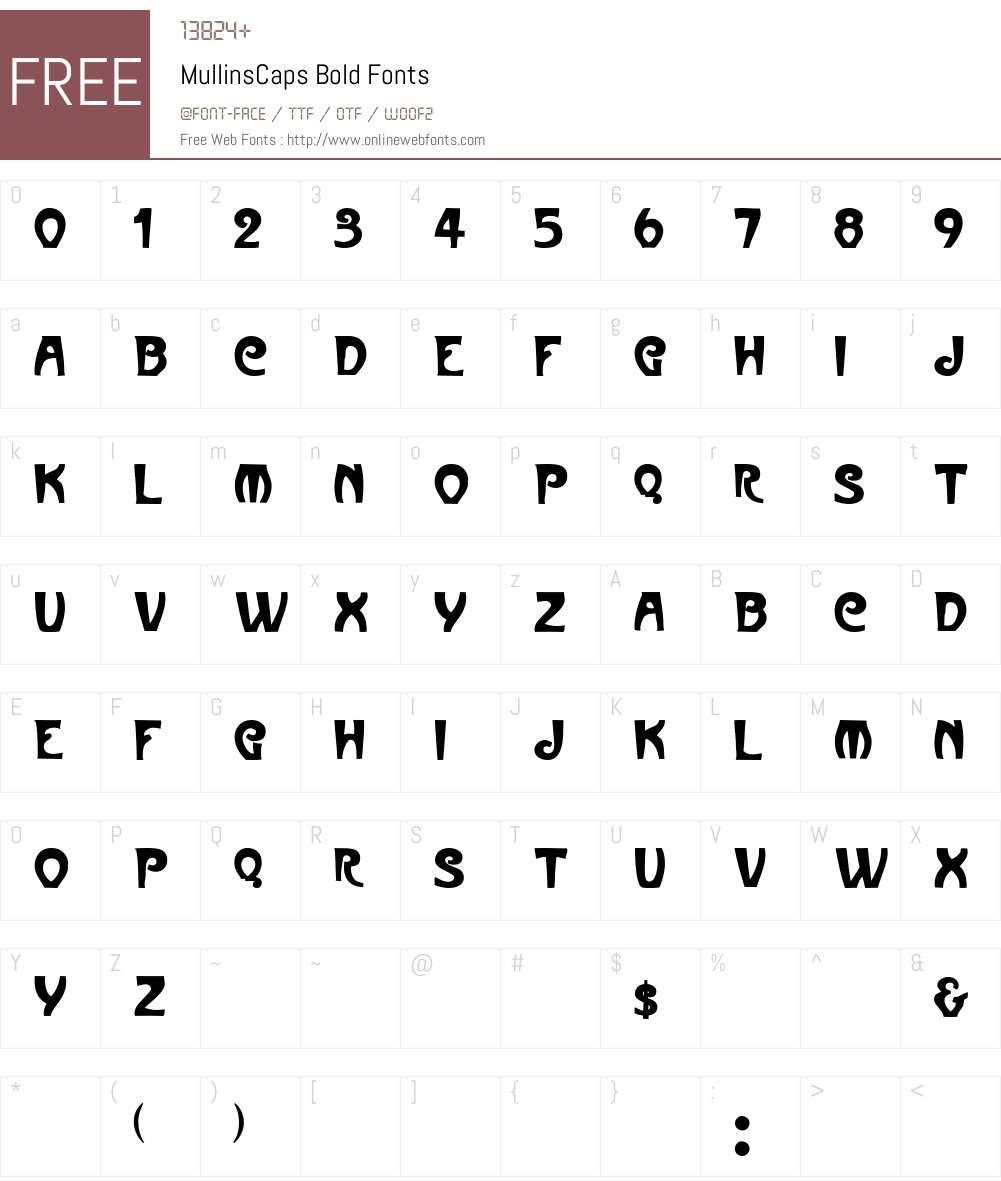 MullinsCaps Font Screenshots