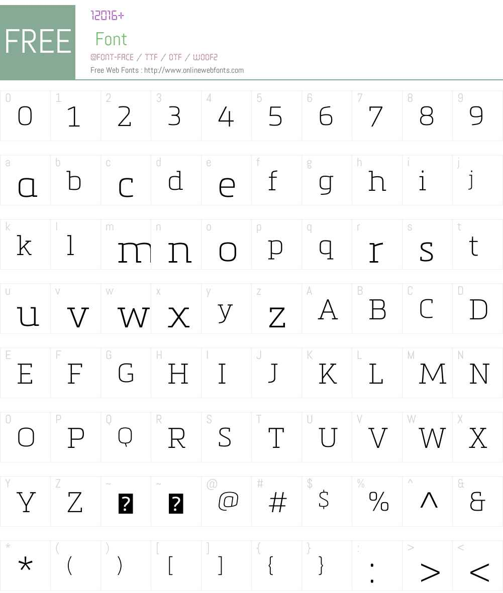 Metronic Slab Pro Font Screenshots