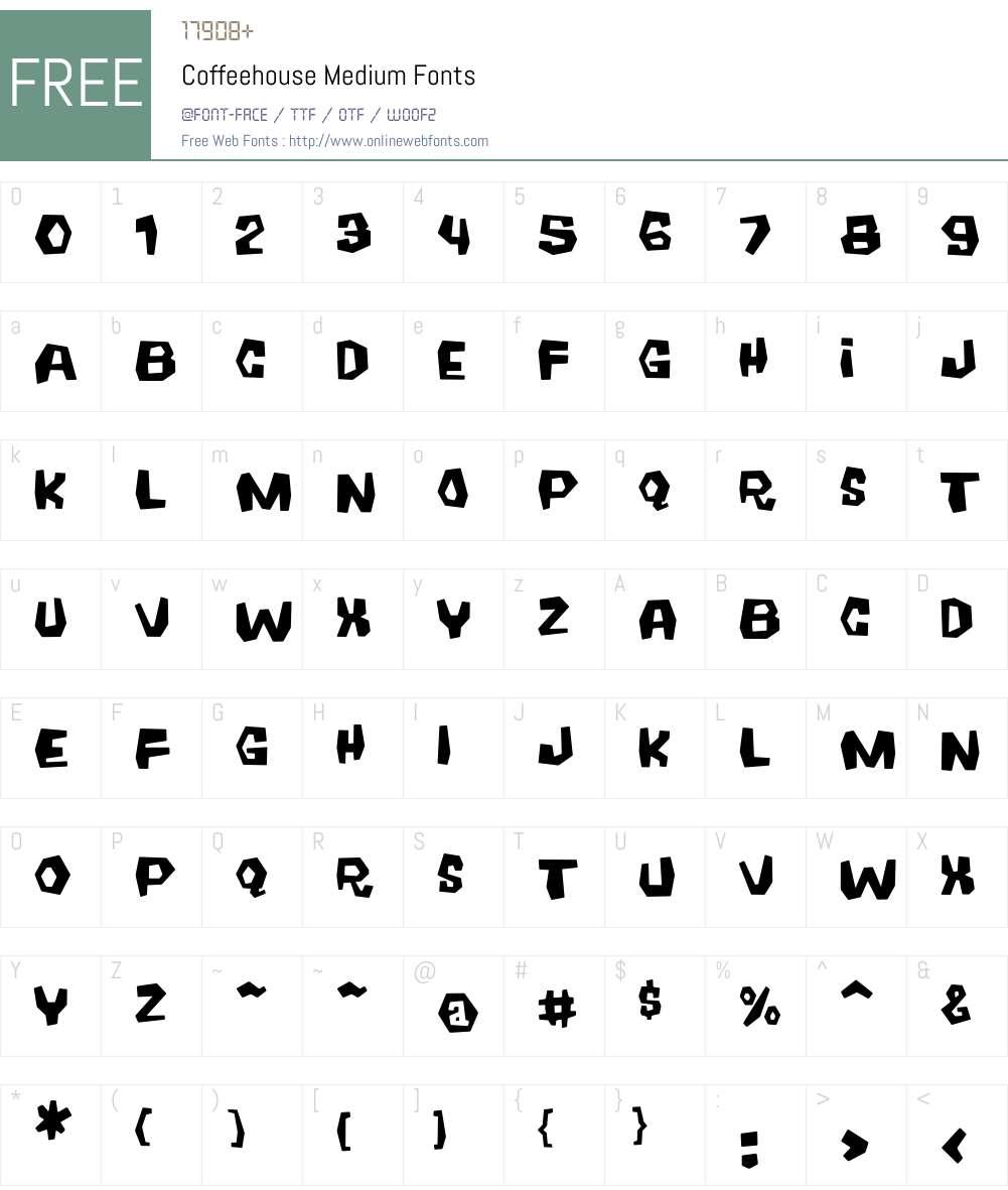 Coffeehouse Font Screenshots