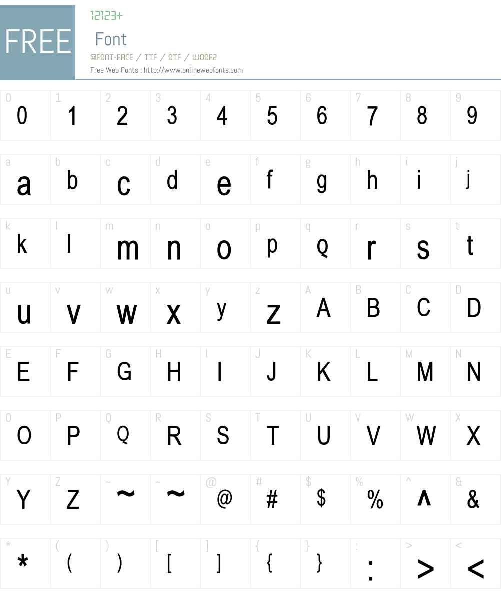 BabelSans Font Screenshots