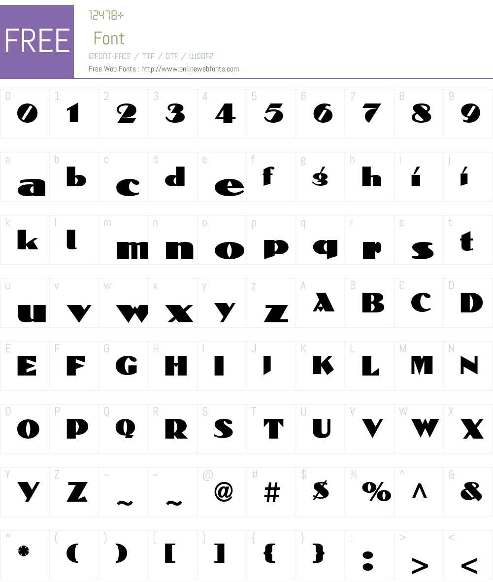 Dolmen ICG Font Screenshots