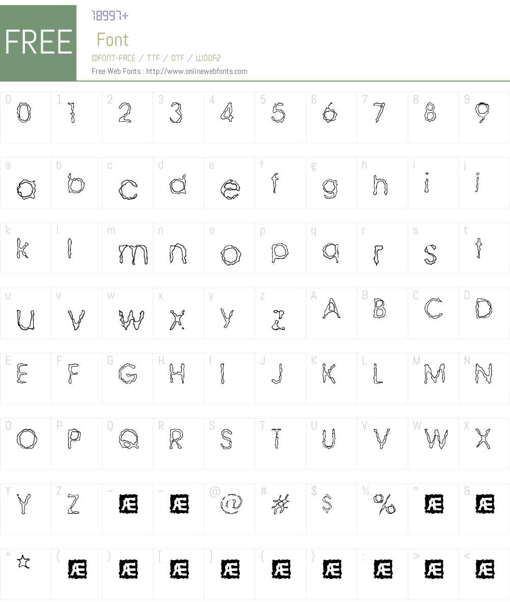 Ravaged By Years BRK Font Screenshots