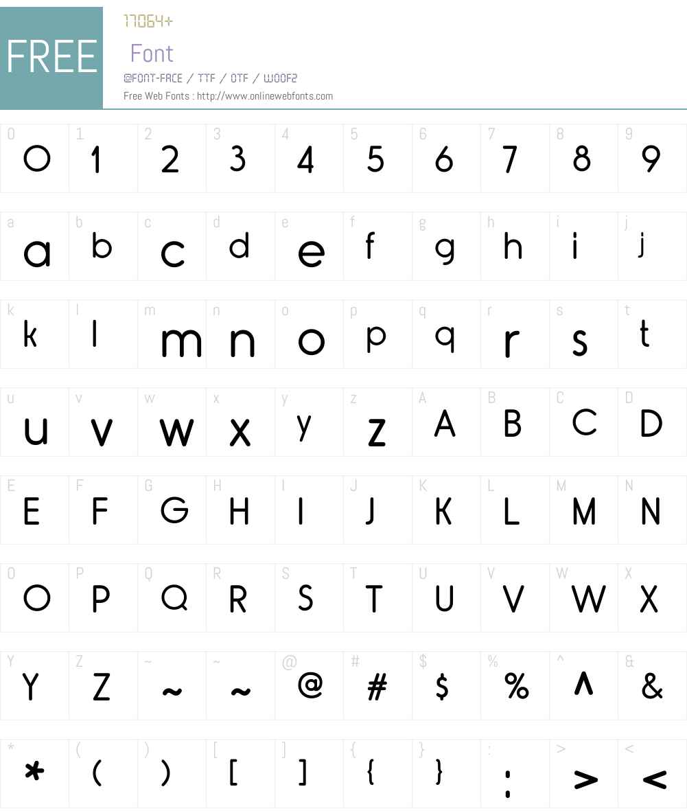 RimouskiW00-Regular Font Screenshots