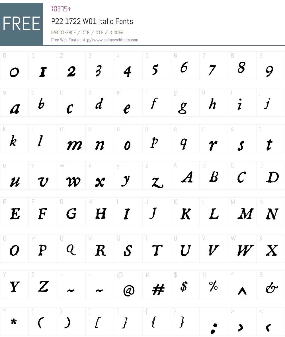 P221722W01-Italic Font Screenshots