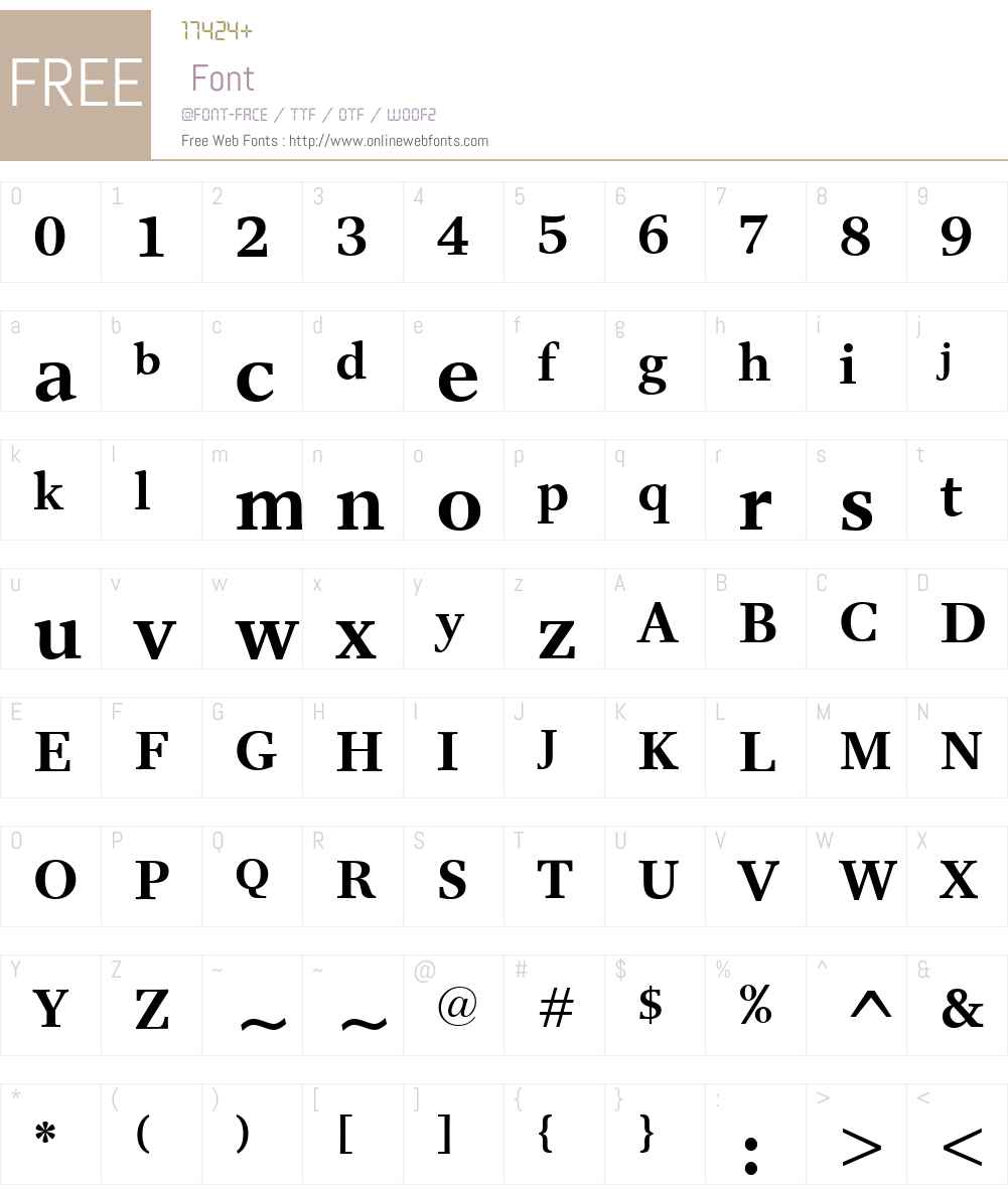 ResPublicaW00-Bold Font Screenshots