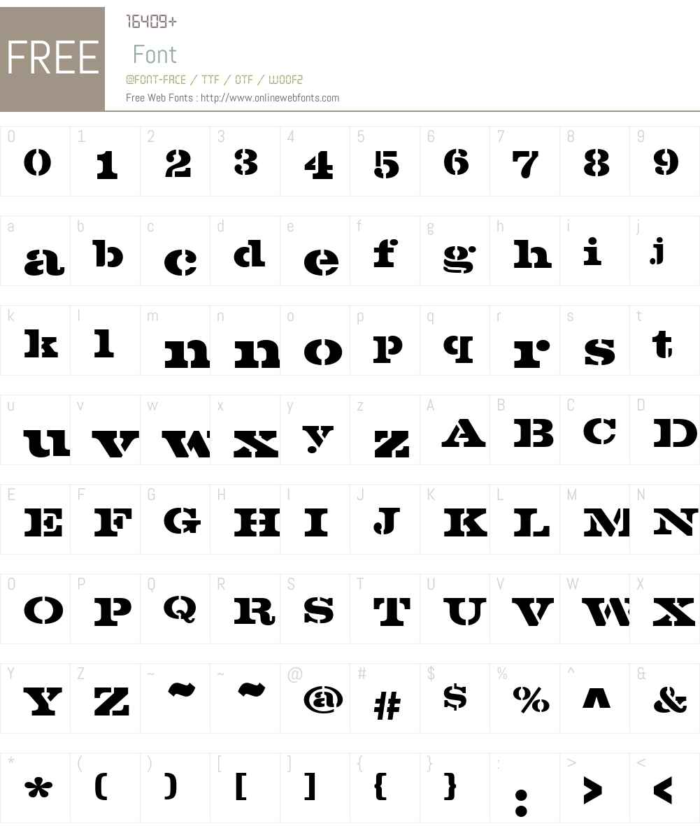 VoltaStencilW01-BoldD Font Screenshots