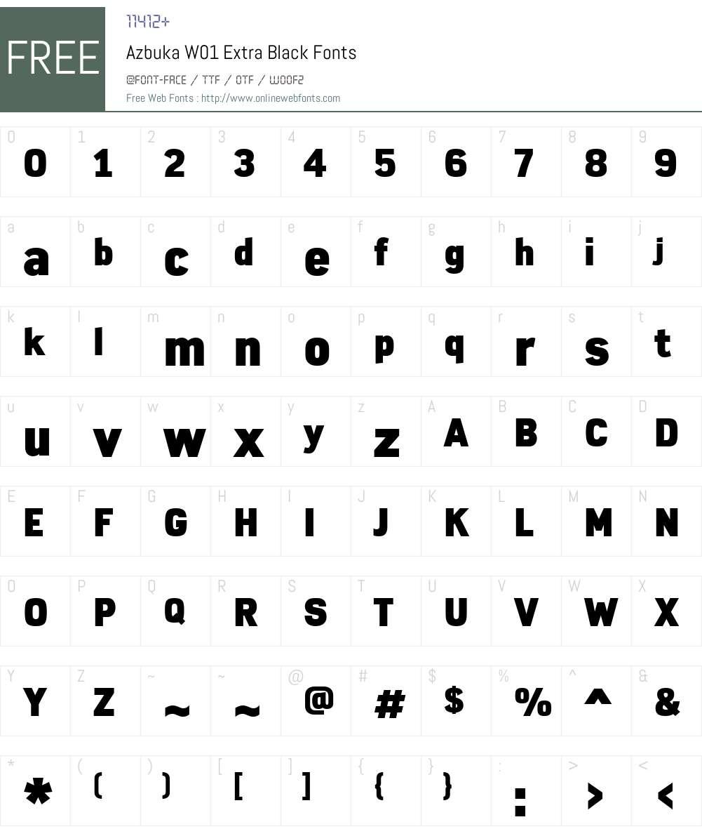 AzbukaW01-ExtraBlack Font Screenshots