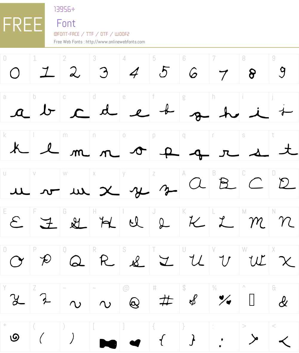 New_Girl_Cursive Font Screenshots