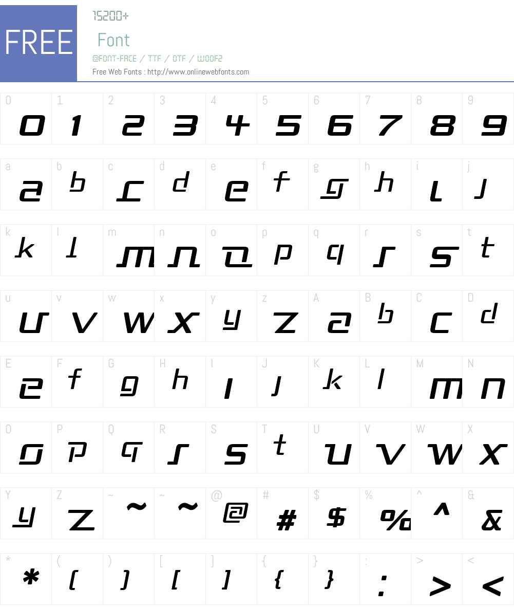 Republika II Font Screenshots