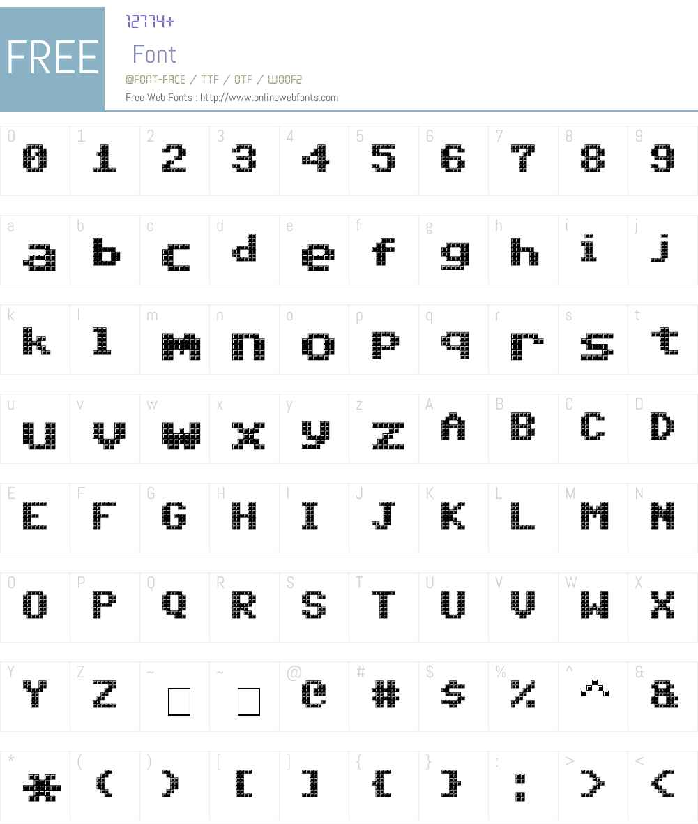 Triad XS Font Screenshots
