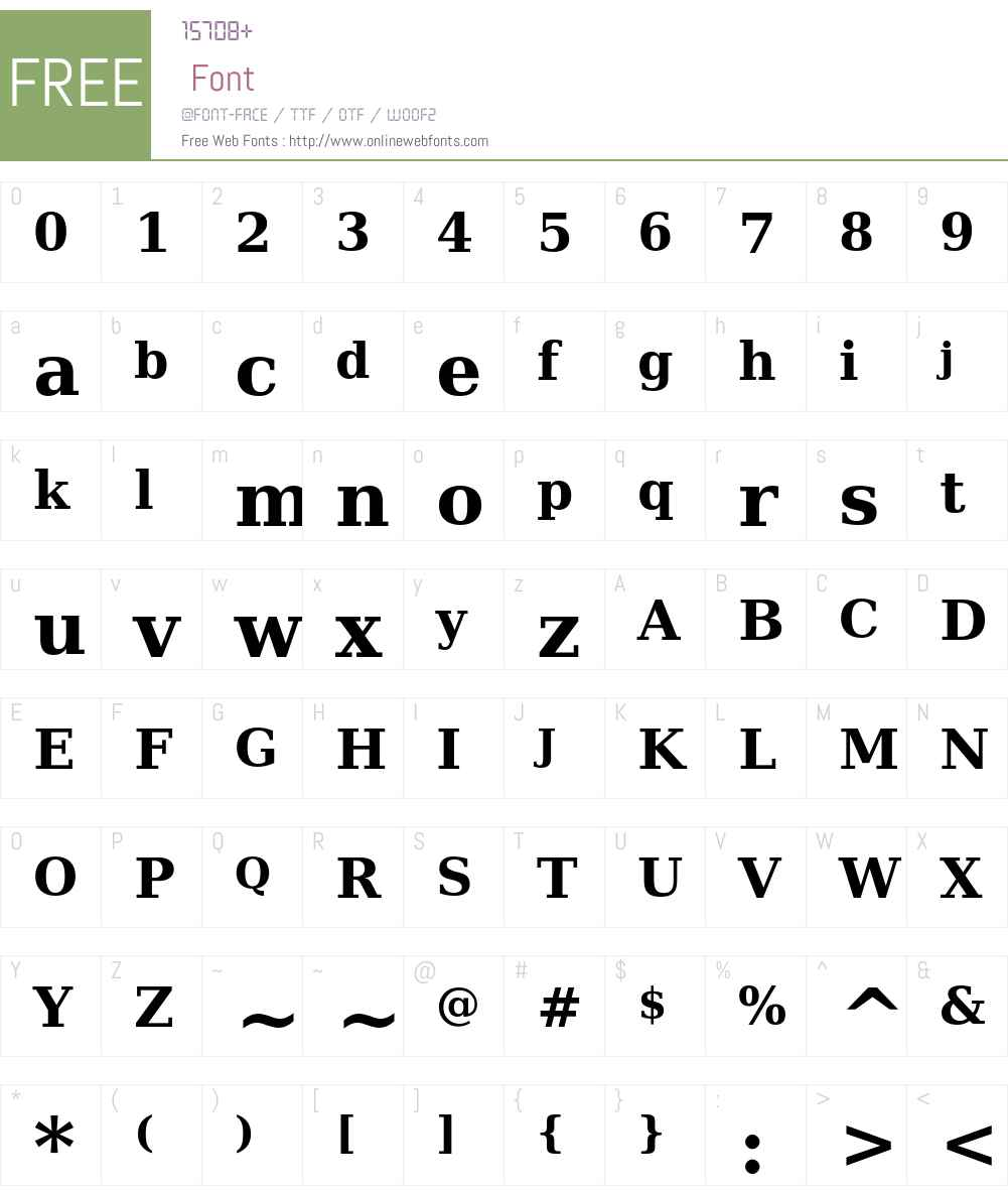 Prima Serif Font Screenshots