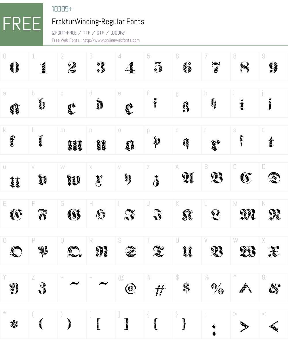 FrakturWinding Font Screenshots