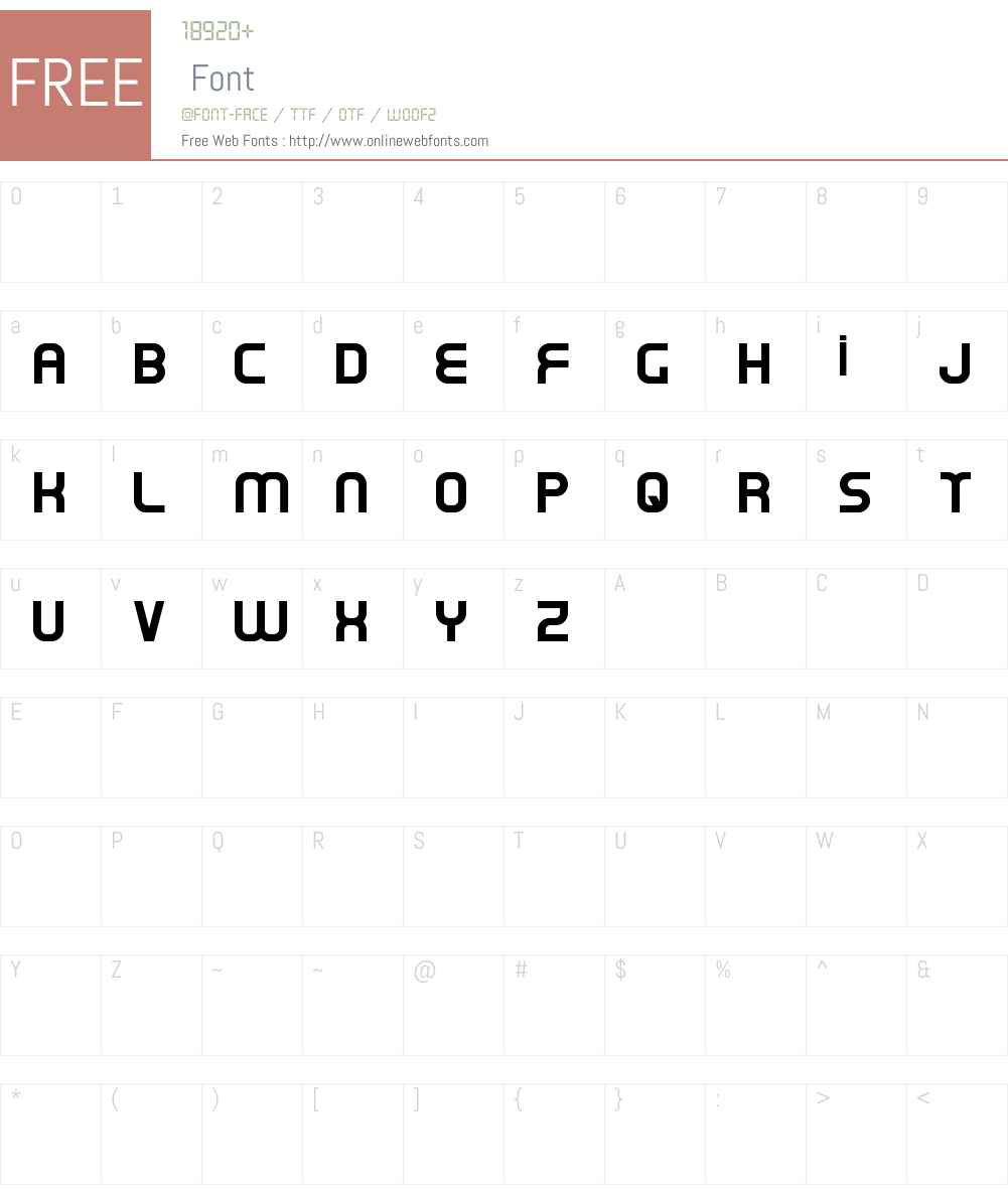Oxin Font Screenshots