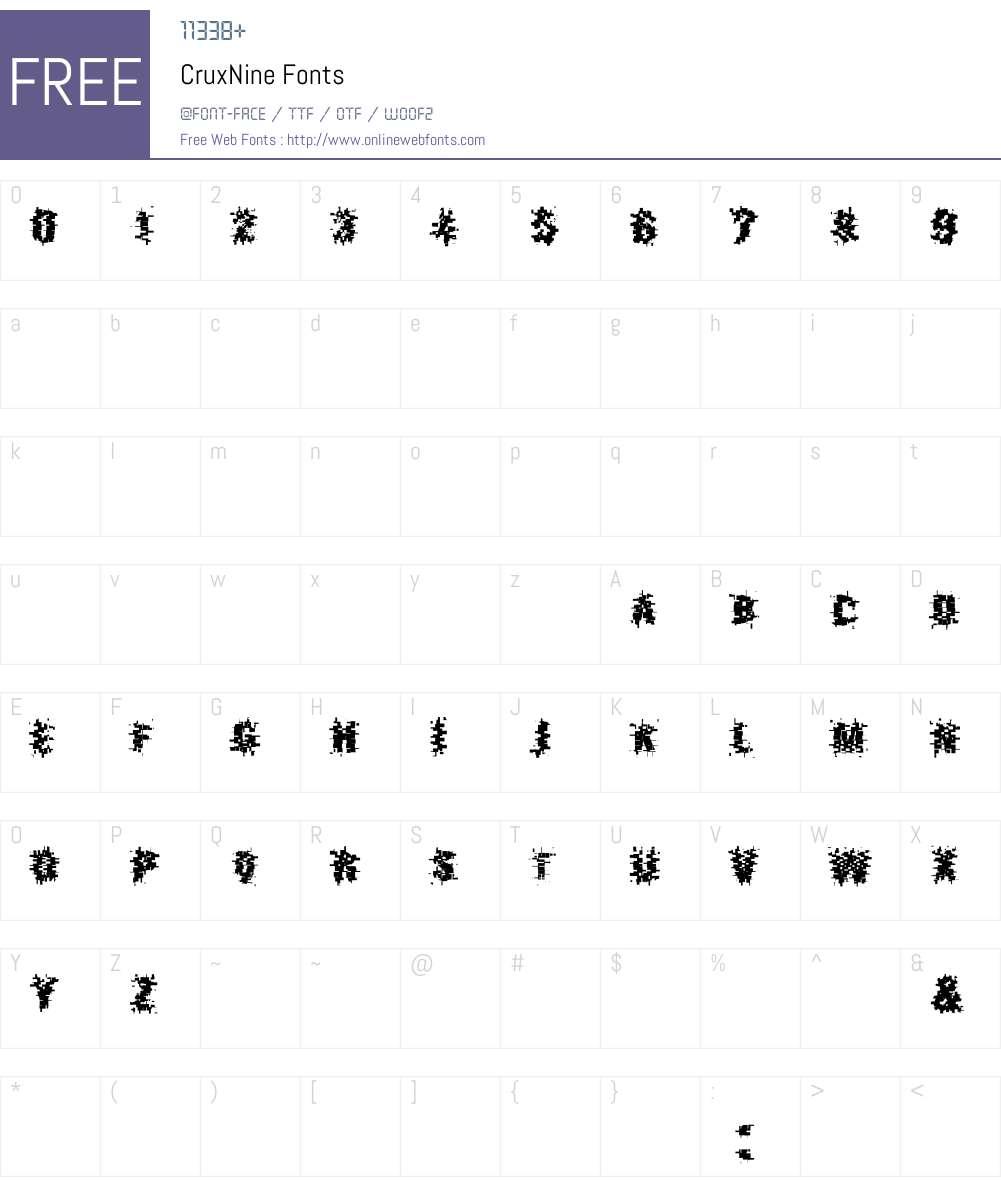 Crux Font Screenshots