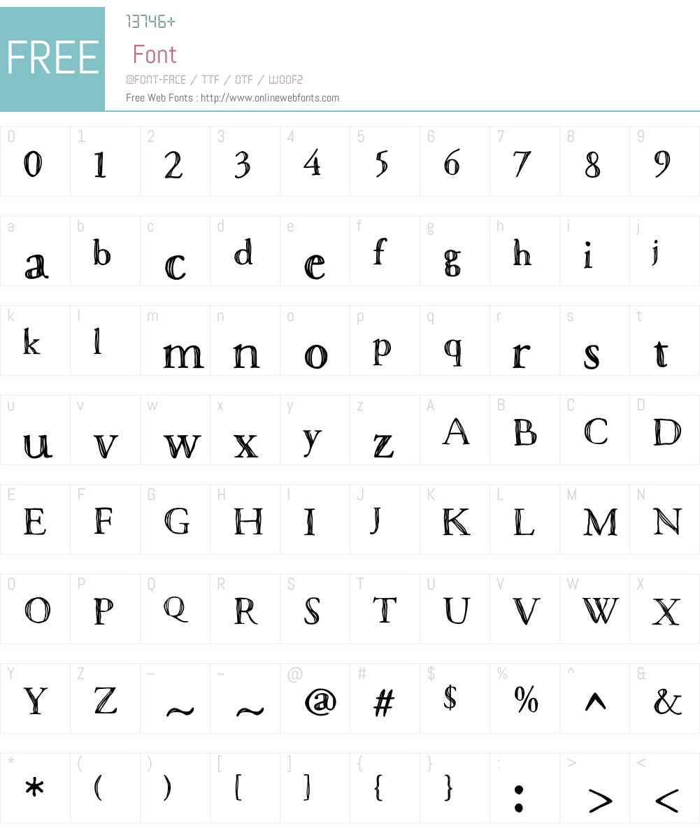 MacaronsW01-BoldSketch Font Screenshots