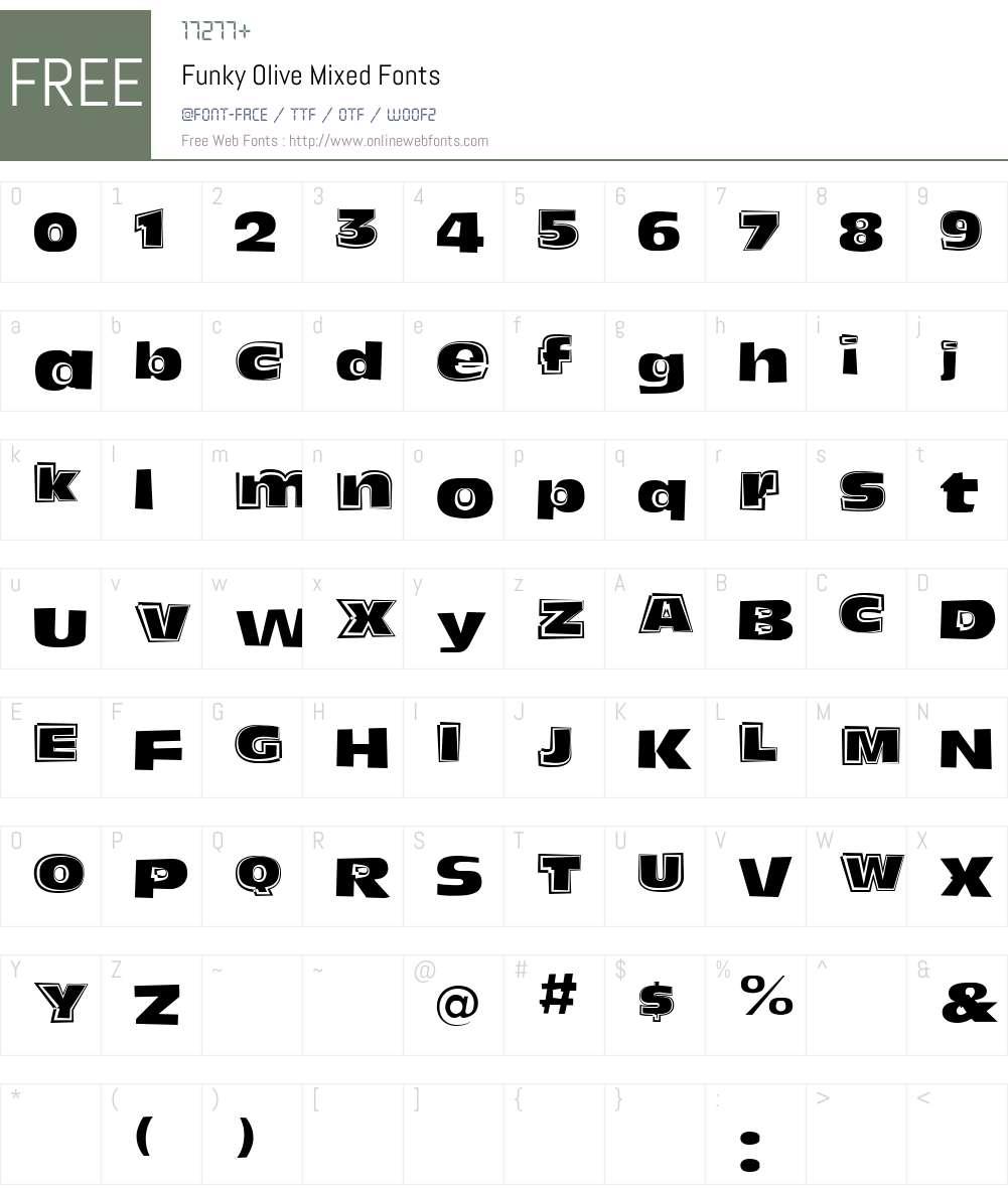 Funky Olive Font Screenshots