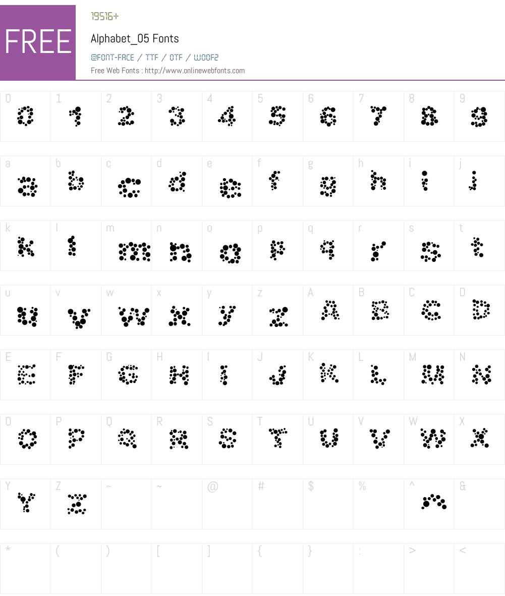 Alphabet_05 Font Screenshots