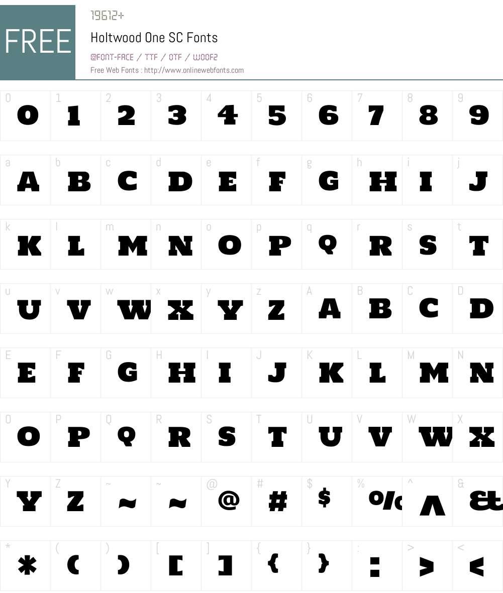 Holtwood One SC Font Screenshots