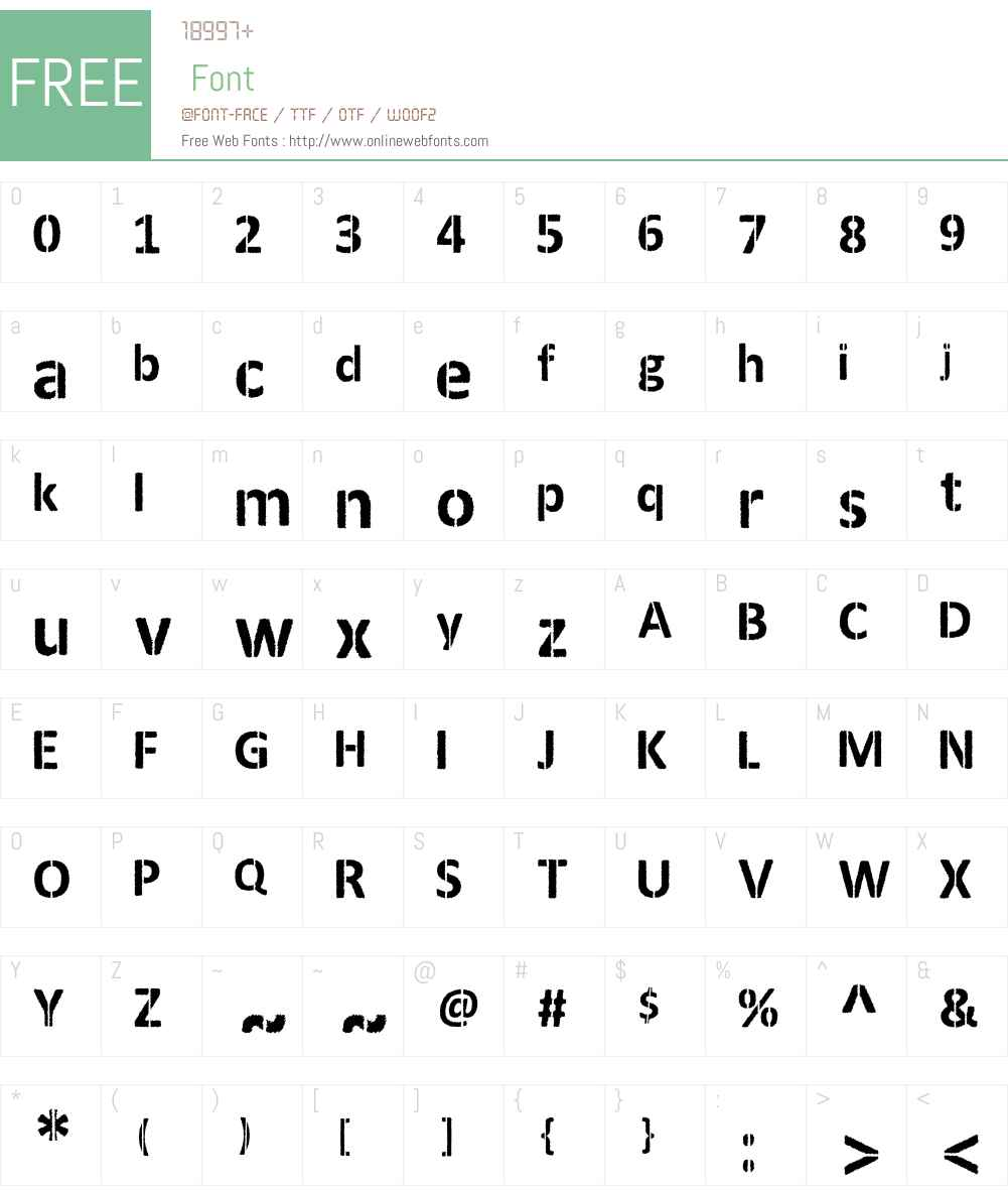 ANDERSON Font Screenshots