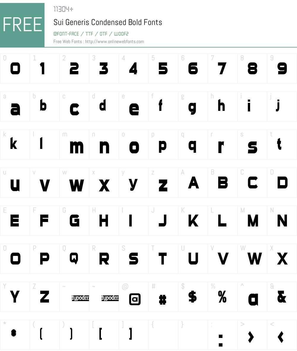 Sui Generis Condensed Font Screenshots