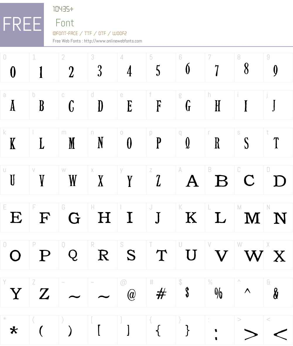 Tuce Font Screenshots